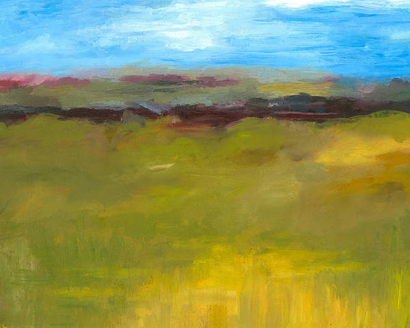 Abstract Expressionism Poster featuring the painting Abstract Landscape - The Highway Series by Michelle Calkins