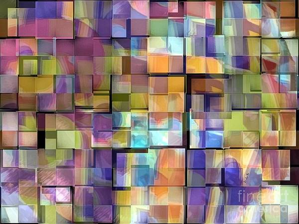 Hawaii Poster featuring the digital art Abstract Squares by Dorlea Ho