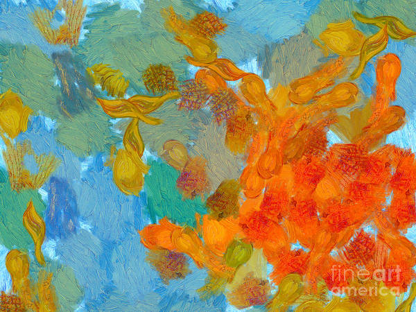 Van Gogh Poster featuring the painting Abstract Summer #2 by Pixel Chimp