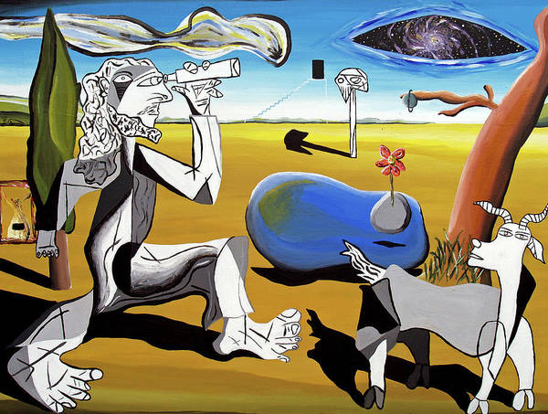 Abstract Poster featuring the painting Abstract Surrealism by Ryan Demaree