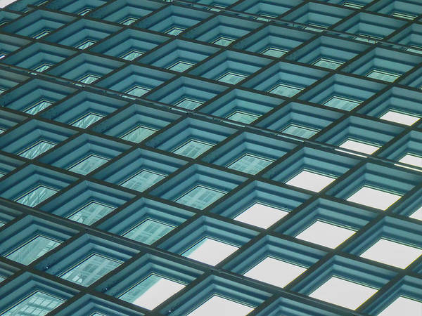 Abstract Poster featuring the photograph Abstract Windows by Roger Mullenhour