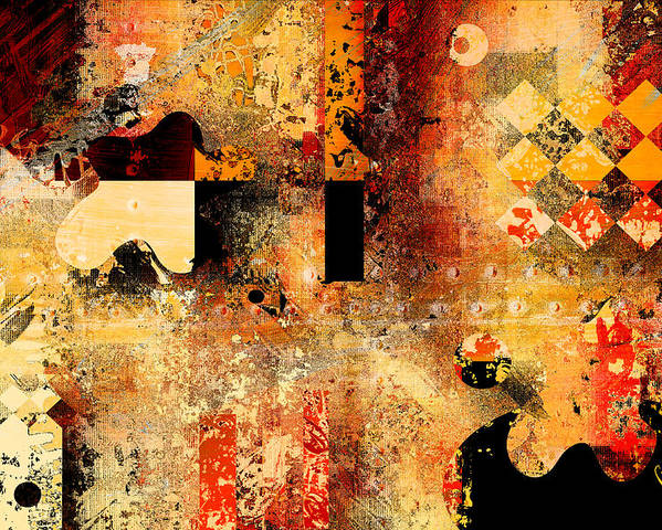 Abstract Poster featuring the digital art Abstracture - 103106046f by Variance Collections