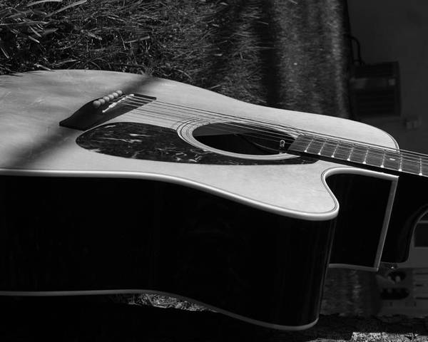 Guitar Poster featuring the photograph Acoustic Guitar by Diego Salisbury