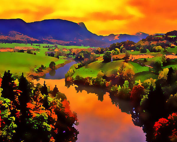 Landscape Poster featuring the photograph Across The Valley by Stephen Anderson