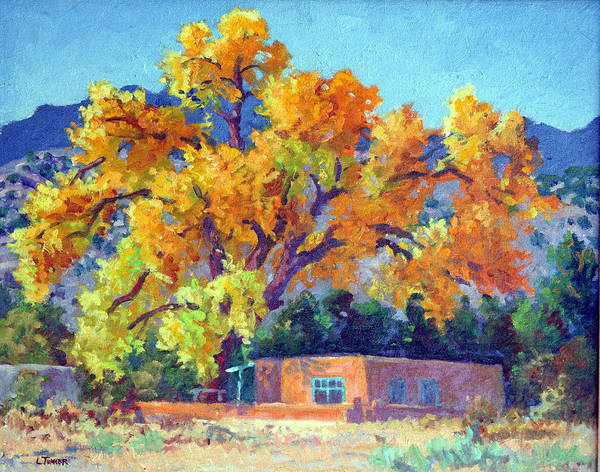 New Mexico Poster featuring the painting Adobe Homstead by Douglas Turner