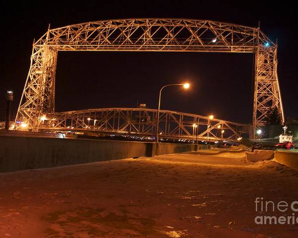 Lift Bridge Poster featuring the photograph Aerial Lift Bridge by Kevin Jack