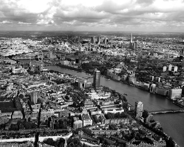 London Poster featuring the photograph Aerial View Of London by Mark Rogan