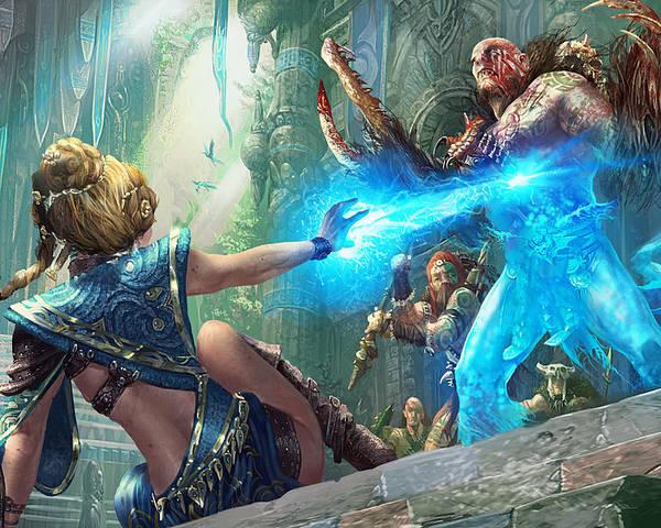 Magic The Gathering Poster featuring the digital art Aetherize by Ryan Barger