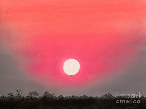 Sunset Poster featuring the pastel African Sunset by Judie Seyffert