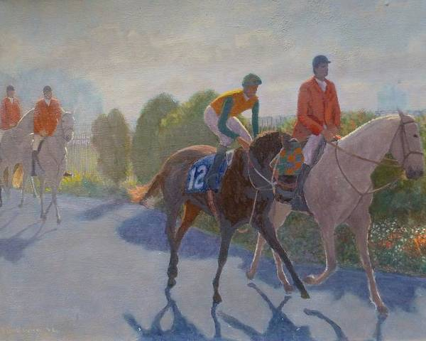 Horse Racing Poster featuring the painting After The Race by Terry Perham