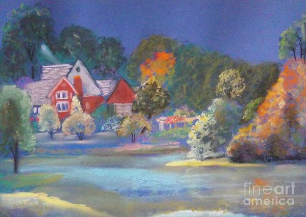 Autumn Poster featuring the painting After The Rain by Sandra McClure