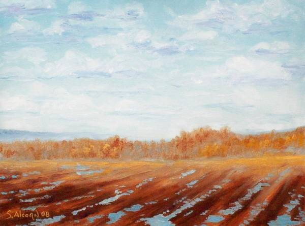 Landscape Poster featuring the painting After The Rain by Scott Alcorn