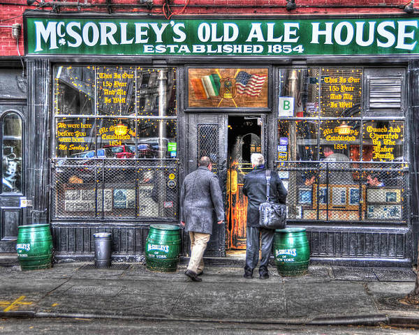 Mcsorley's Old Ale House Poster featuring the photograph Afternoon At Mcsorley's by Randy Aveille