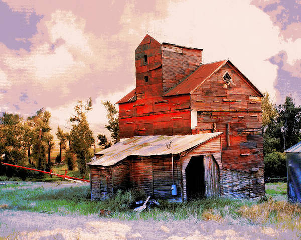 Grain Elevator Poster featuring the photograph Against The Grain by Marty Koch