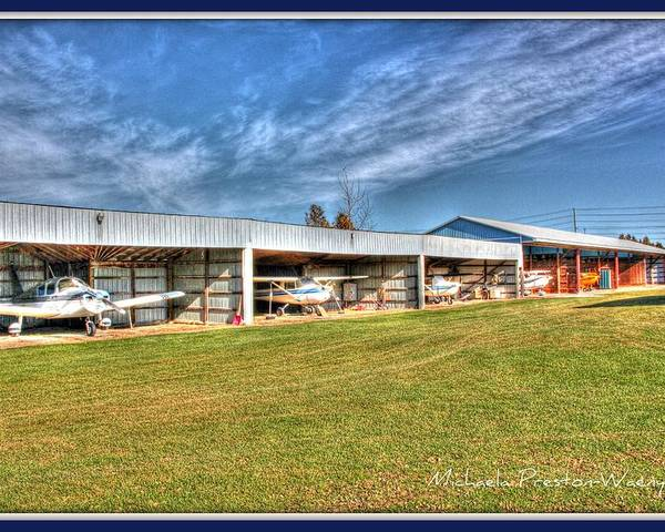 Hdr Poster featuring the photograph Airport by Michaela Preston