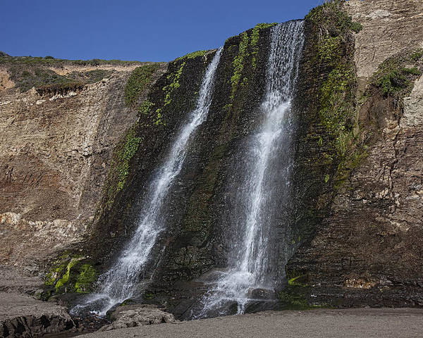 Alamere Falls Poster featuring the photograph Alamere Falls Three by Garry Gay