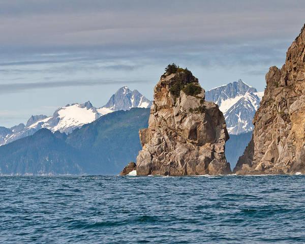 Poster featuring the photograph Alaska Coastline Landscape by Richard Jack-James
