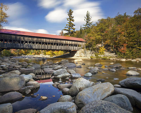 Albany Covered Bridge Poster featuring the photograph Albany Covered Bridge by Eric Gendron