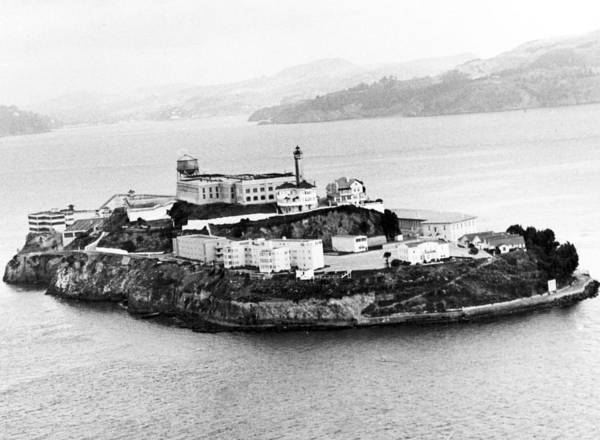 Retro Images Archive Poster featuring the photograph Alcatraz All Alone by Retro Images Archive