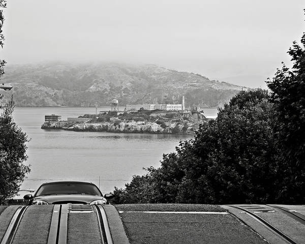 Alcatraz Poster featuring the photograph Alcatraz Island From Hyde Street In San Francisco by RicardMN Photography
