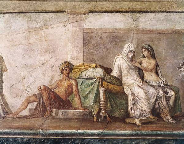 Horizontal Poster featuring the photograph Aldobrandini Wedding. 1st C. Bc by Everett