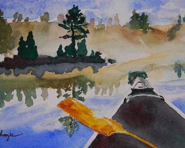 Algonquin Provincial Park Poster featuring the painting Algonquin Provincial Park Ontario Canada by Warren Thompson