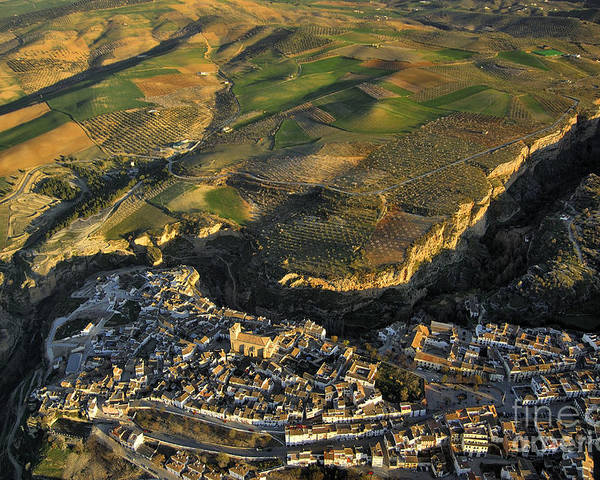 Aerial Photo Poster featuring the photograph Alhama De Granada Volcanic Lands by Guido Montanes Castillo
