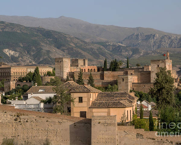 Part Of Alhambra (alcazaba) And Of City Walls Poster featuring the photograph Alhambra by Paul Fearn