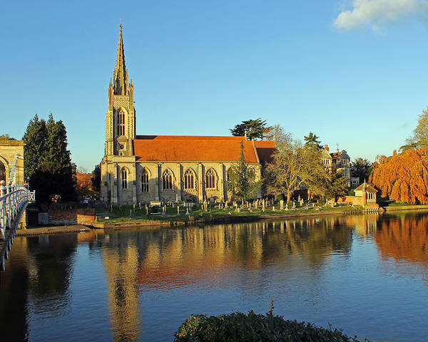 All Saints Church Poster featuring the photograph All Saints Church Marlow by Tony Murtagh