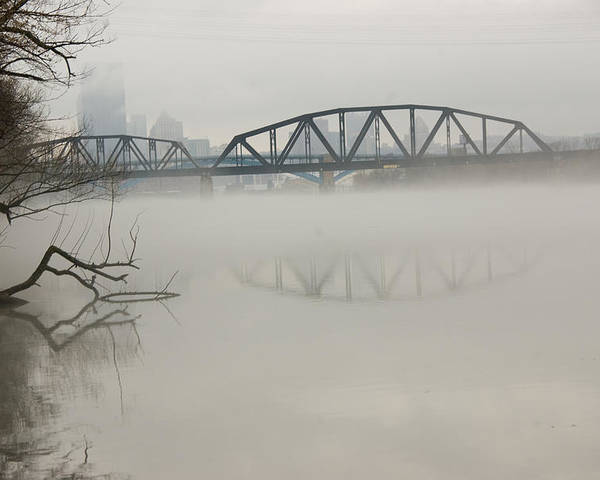 Landscape Poster featuring the photograph Allegheny In The Mist by Jay Ressler