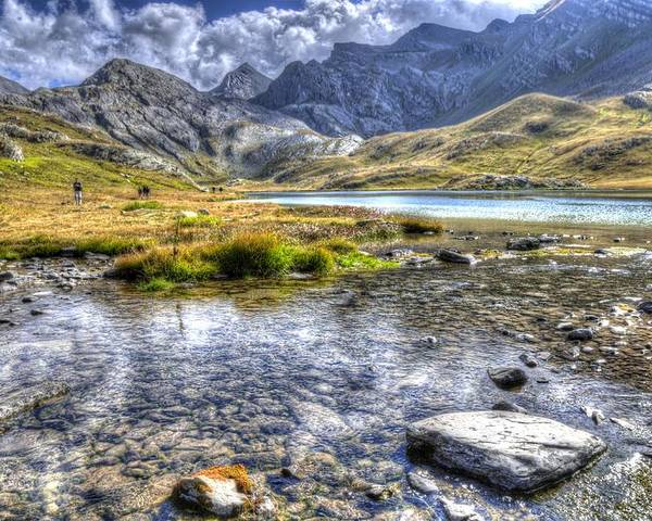 Clouds Poster featuring the photograph Alps Southern France by Seruddin Salleh