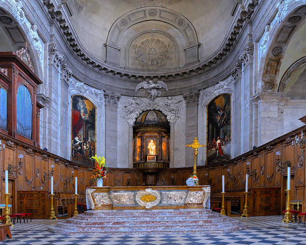 Alter Poster featuring the photograph Alter At St Martins Cathedral by Dave Mills