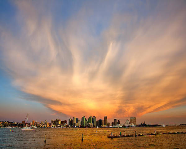 Amazing Sky Poster featuring the photograph Amazing San Diego Sky by Peter Tellone