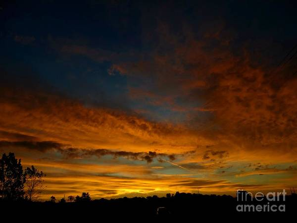 Sunrise Poster featuring the photograph Amber Skys Six by Scott B Bennett