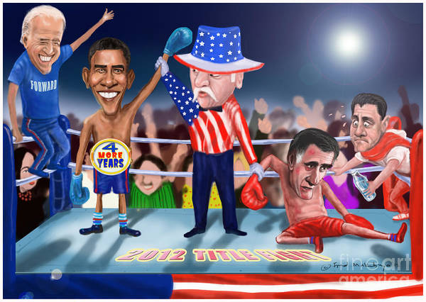 Elections 2012 Poster featuring the digital art America Wins by Fred Makubuya