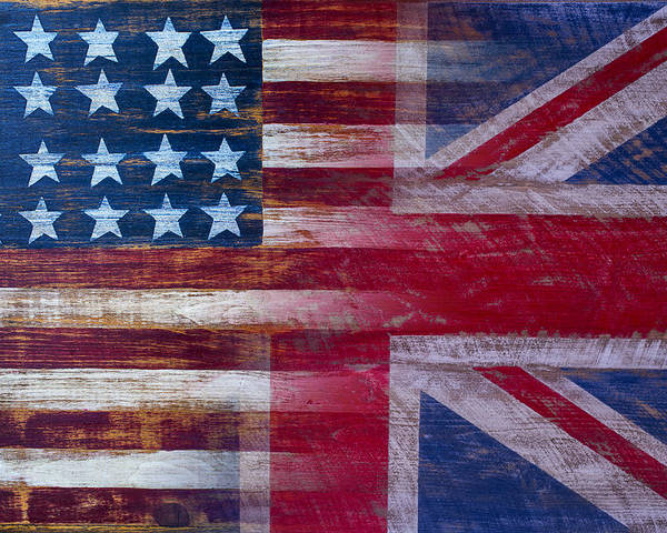 American Poster featuring the photograph American British Flag by Garry Gay