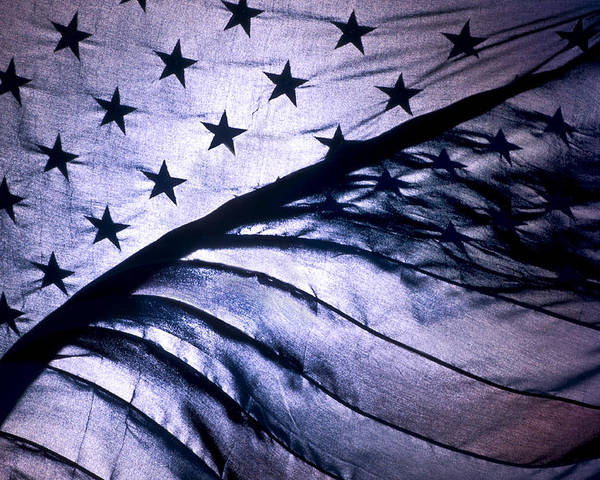 American Flag Poster featuring the photograph American Flag by Scott Lenhart