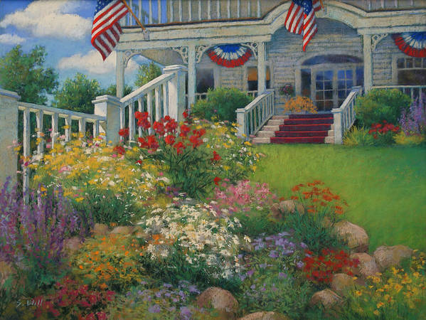 American Poster featuring the painting American Garden by Sharon Will