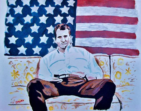 Al Poster featuring the painting American Hero by Jeremy Moore