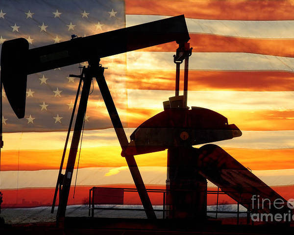 Oil Poster featuring the photograph American Oil by James BO Insogna