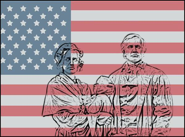 American Patriots American Patriot Poster featuring the photograph American Patriots by Dan Sproul