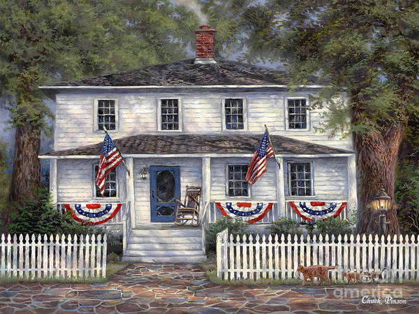 Partriotic Poster featuring the painting American Roots by Chuck Pinson
