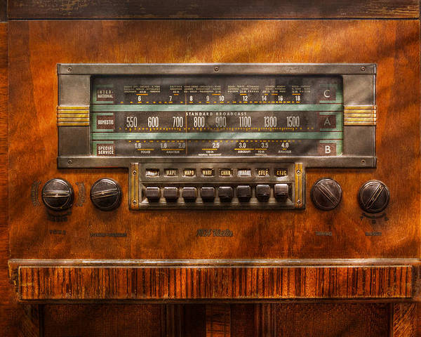 Savad Poster featuring the photograph Americana - Radio - Remember What Radio Was Like by Mike Savad