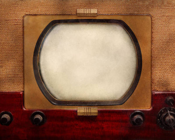 Savad Poster featuring the photograph Americana - Tv - The Boob Tube by Mike Savad