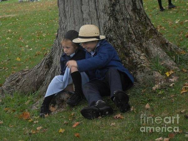 Amish Children Photographs Poster featuring the photograph Amish Kids by R A W M