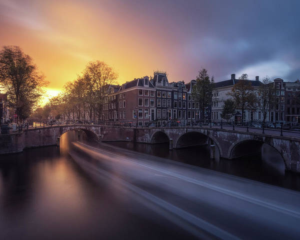 Amsterdam Poster featuring the photograph Amsterdam - Keizersgracht by Jean Claude Castor