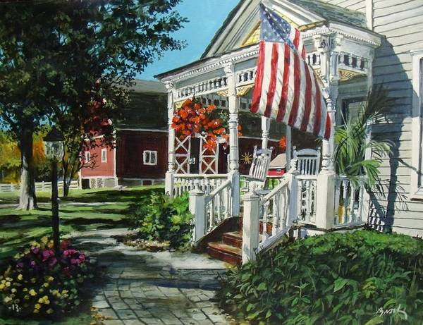 Farm Poster featuring the painting An American Dream by William Brody