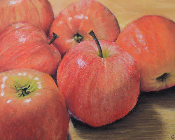 Apple Poster featuring the painting An Apple A Day by Joanne Grant