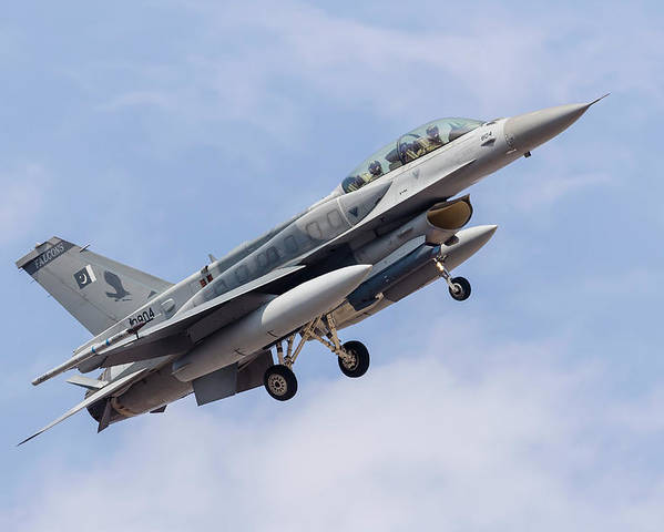 An F-16c Of The Pakistan Air Force Poster
