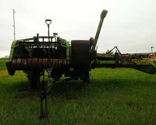 Farm Equipment Poster featuring the photograph An Old Bailor by Jeff Swan